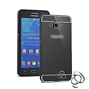 ACASE Luxury Mirror Acrylic back + Metal Bumper Case Cover for Samsung Galaxy A7 -(Black)