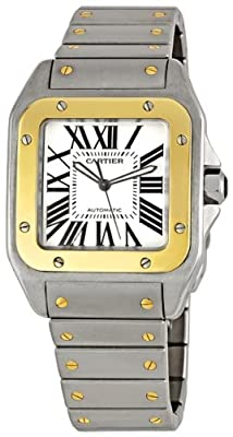 Cartier Men's W200728G Santos 100 Automatic Two-Tone Watch by Cartier