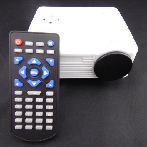 Aketek® Home Cinema Theater Multimedia Led Lcd Projector Hd 1080P Pc Av Vga Usb Hdmi(White)