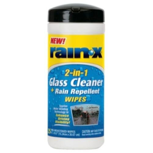 Rain-X 630022 Glass Cleaner and Rain Repellent Wipes - 25 Count (Rain X 2 In 1 compare prices)