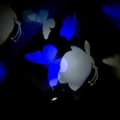 YarBar LED Laser Dynamic Lamp Light Snowflake Butterfly Christmas Wedding Light 110V