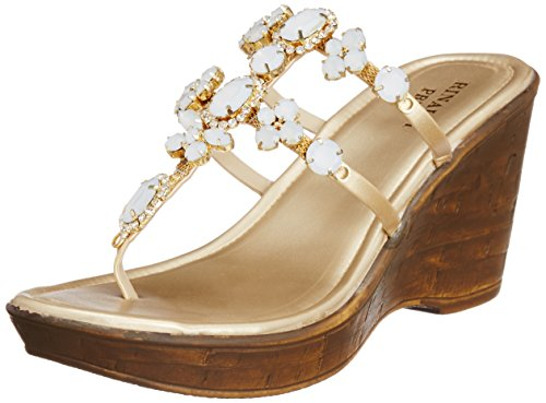 Fashion Rinaldi Pret Women's Beaded Fashion Sandals (Brown)