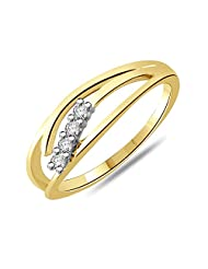 Sparkles 18k (750) Two Color Gold Diamond Ring - B00NBQ0Q0O