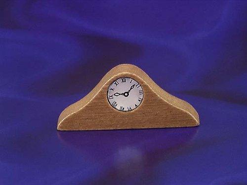 Miniature Wood Mantle Clock