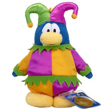 Disney Club Penguin 6.5 Inch Series 10 Plush Figure Jester Includes Coin with Code! by Jakks Pacific - 1