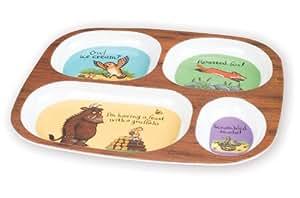 Gruffalo Melamine Single Divided Plate