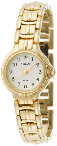 Carriage by Timex Women's C3C397 Gold Tone Round Case Cream Dial Gold Tone Gold Jewelry Bracelet Watch