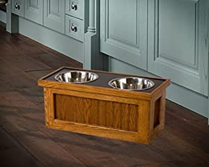 Dog Feeder with Storage
