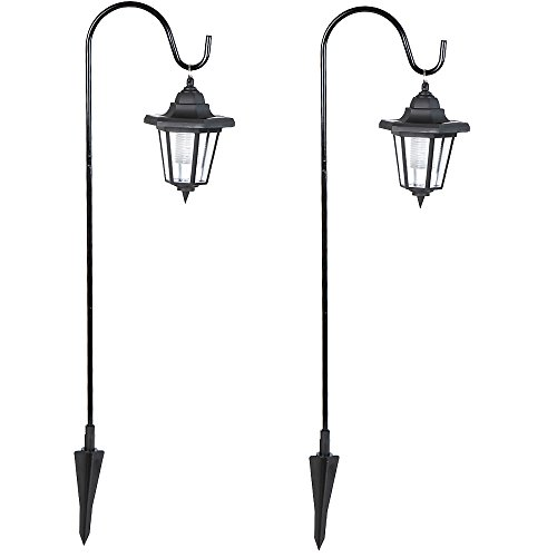 2er-Set LED Gartenlaternen Solarlampen mit 3 Solarpanels