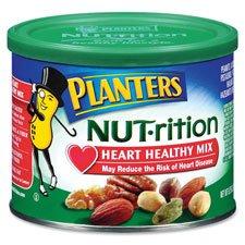 Kraft Foods Krf05957 Planters Heart Healthy Mix, Assorted Nuts, 9.75Oz., Green