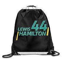 PiLnMMk Unisex Unisex Lewis Hamilton Gym Drawstring Sack Bags Backpack