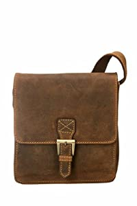 Visconti 18722 Modern Style Small Messenger Bag Made of Genuine Distressed Leather