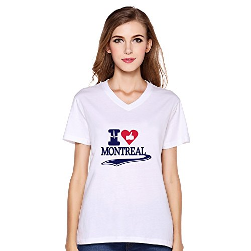 Like Montreal Love Montreal Cotton Woman Customized T-Shirts White