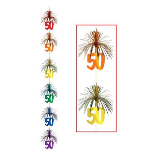 50 Firework Stringer Party Accessory (1 count) (1/Pkg)