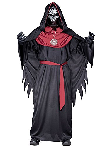 Morris Costumes Emperor Of Evil Child Large Hooded Cape Polyester Pvc
