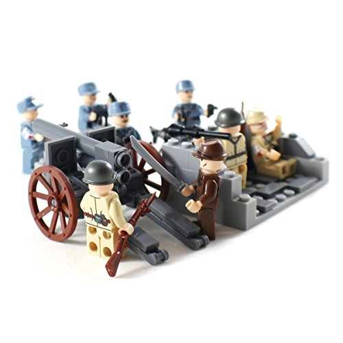 Pacific War WW2 Minifigure Army Soldiers - Military Building Block Figures (Military Building Blocks compare prices)