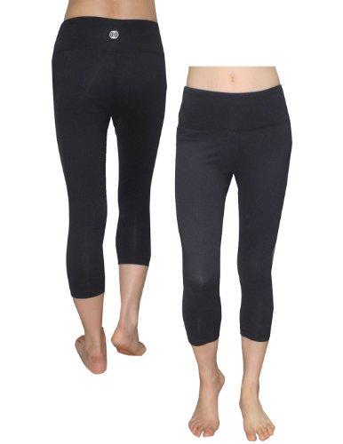 6abfc0cfb27d6 The Features Balance Collection By Marika Womens Skinny Leggings Yoga Capri  Pants L Black -