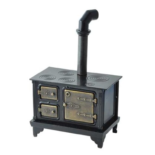 Dollhouse Miniature Antique Cast Iron Stove front-547629