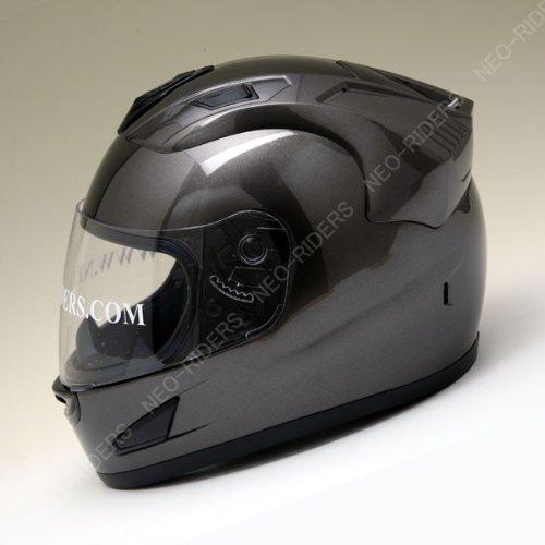 【NR-7】 エアロデザイン フルフェイス ヘルメット ガンメタ Lサイズ