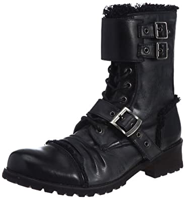 [ボアダム] BOREDOM コンバット風ブーツ 8001 BLACK (ブラック/40)