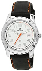 Maxima Attivo Analog White Dial Mens Watch - 23890LMGI