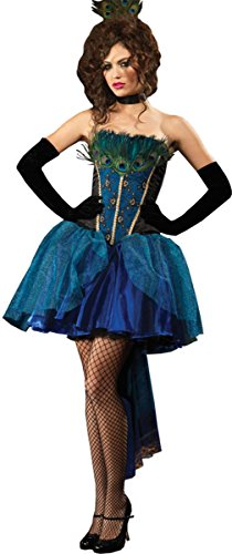 Morris Costumes Women's Peacock Princess, Medium, Teal