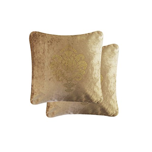 Purple Velvet Cushion Cover Designer Fancy Set of 2