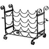 Concept Housewares Solid Metal Wine and Glass Counter Rack