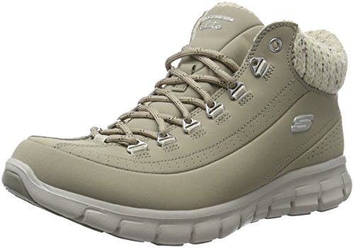 Skechers Synergy Winter Nights, Stivali Bassi Non Imbottiti Donna, Beige (Stn), 40