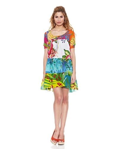 Peace & Love Vestido Cuello Redondo Floral
