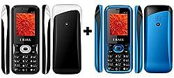I KALL(K12BLACK+K12BLUE) Dual Sim Mobile Combo