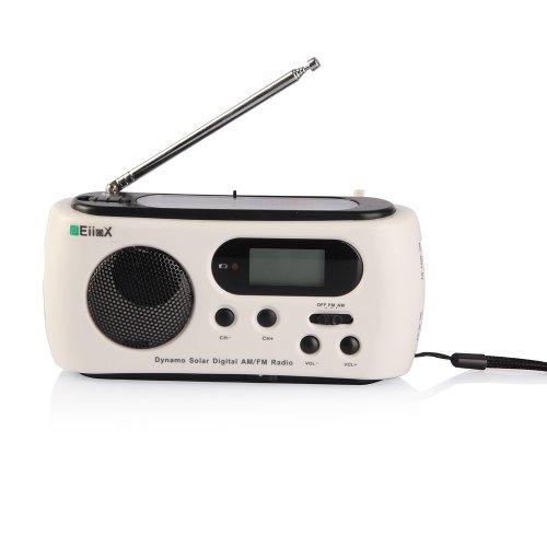 EiioX Solarbetriebene AM / FM Digital Radio mit