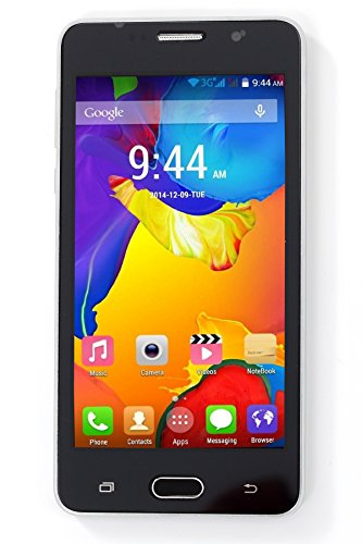Kimfly Z50 White 4 inch touch screen display Dual Sim Touchscreen Android V4.4.2 Mobile Chinese Phone HD Camera Cellphone WiFi Bluetooth Email FM Radio Mp3 Mp4 Cell(White)