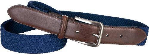 Boca Classics Navy Fabric Stretch Belt Medium Navy