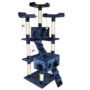 Leopet® KBD008/2blue Cat Tree Scratching Post Sisal Height about 180cm Blue