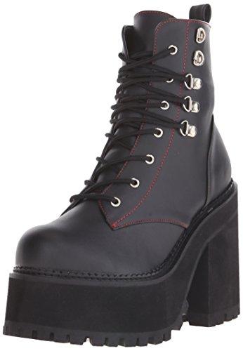 Demonia Assault-100 Asst100/bvl, Stivali donna BLK Vegan Leather, (BLK Vegan Leather), 40-41 EU / 10 US