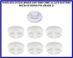 Tc330- Wireless Interlinked 230v Hmo Fire Alarm Battery Back Up Bs5839 Pt6 Grade D by DIGITECK