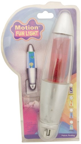 Creative Motion Turbulence Night Light, Red - 1