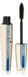 L'Oreal Paris Voluminous Million Lashes Waterproof Mascara, Blackest Black, 0.29 Ounces
