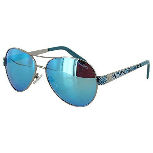 guess-womens-gf0290-wire-rim-aviator-fashion-sunglasses-silver-blue