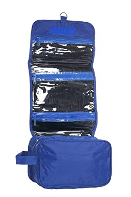 Best Cheap Deal for Hanging Toiletry Cosmetics Travel Bag, Royal Blue by Budget Bags Inc - Free 2 Day Shipping Available