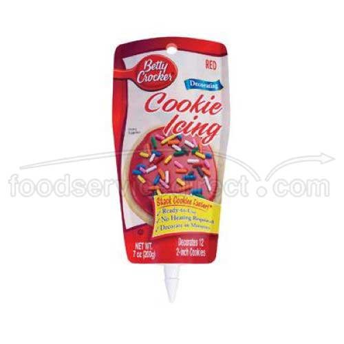 Betty Crocker Cookie Icing Red, 7-Ounce (Pack of 6)