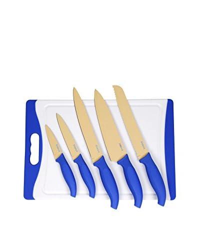 Darna Home Tabla De Cortar + 5 Cuchillos Revestido De Cerámica