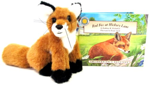 Red Fox at Hickory Lane (Smithsonian's Backyard Book & Toy Set) (Mini book with stuffed toy animal)