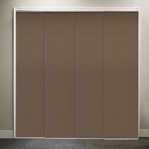 Chicology adjustable sliding panel fabric thermal room for Sliding glass doors 80 x 96