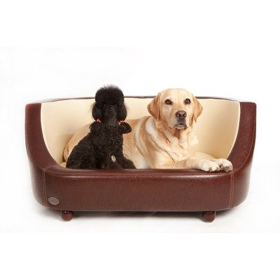 Oxford I Dog Bed Colour: Chestnut / Beige, Size: Large (45cm H x 112cm W x 70cm L)