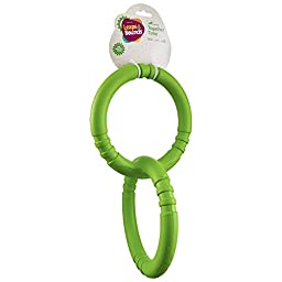 Leaps & Bounds Rubber Tug Rings Dog Toy, Large