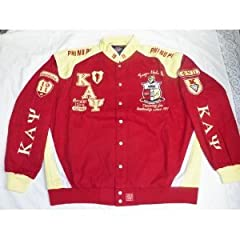 Buy New Red & Yellow Kappa Alpha Psi Snap up Fraternity Racing Style Jacket 4XL by Big Boy Gear