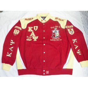 Buy New 3XL Red & Yellow Kappa Alpha Psi Snap up Fraternity Racing Style Jacket by Kappa Alpha Psi