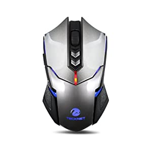 TeckNet® High Precision Programmable Wireless Gaming Mouse With 2000 DPI, Nano Receiver, 5 Programmable Button, 5 User Profiles